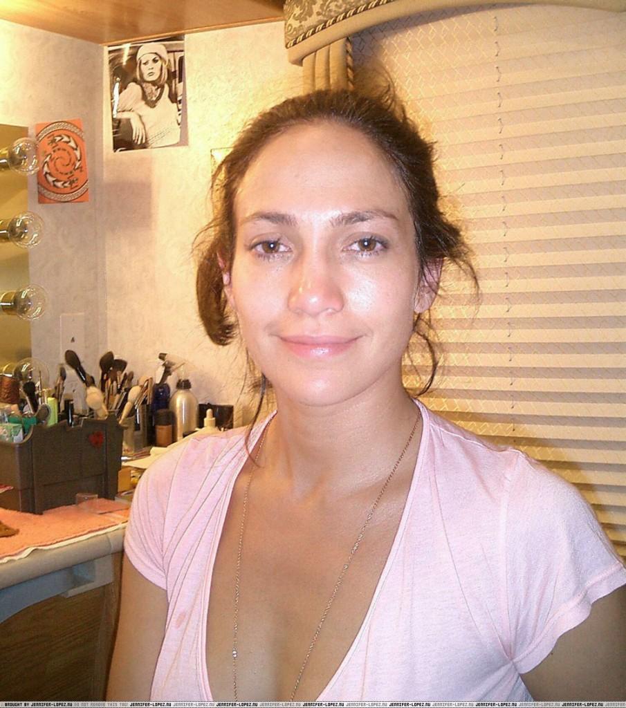 Jennifer Lopez sin maquillaje